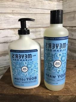 Mrs. Meyer's Clean Day Body Wash And Body Lotion RAIN WATE