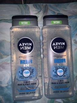 **NEW** 4 NIVEA MEN REFRESHING & ENERGIZING 3 IN 1 BODY WASH
