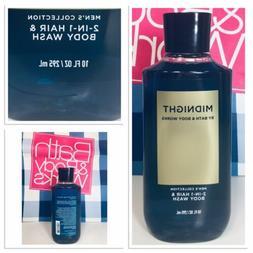 *NEW!* Men's Midnight 10 oz 2-in-1 Hair & Body Wash Bath & B