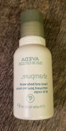 NEW AVEDA SHAMPURE Hand and Body Wash TRAVEL SIZE 1.7 fl oz