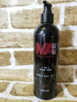 New Skin Care Andrew Marc 3 in 1 Hair Face & Body Wash 16 FL