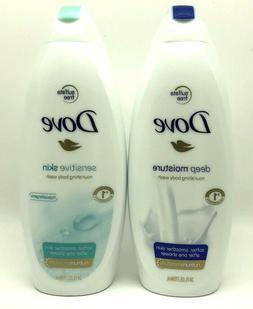 Dove nourishing body wash 24 oz 3 pk you choose  scents