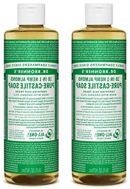 Dr. Bronner's Organic Pure Castile Liquid Soap, Almond Scent