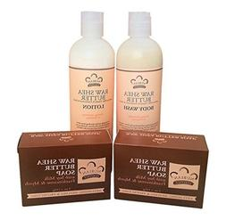 Raw Shea Butter Soap, Lotion & Body Wash Set.. by Nubian Her