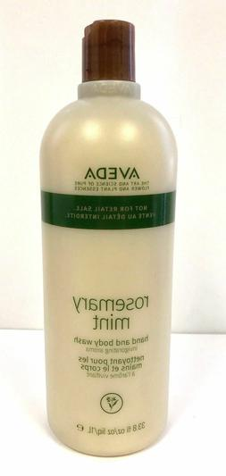 Aveda Rosemary Mint Hand And Body Wash 33.8oz +Free Aveda Ha