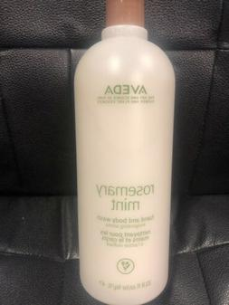 Aveda Rosemary Mint Hand and Body Wash 33.8oz/1L Brand New