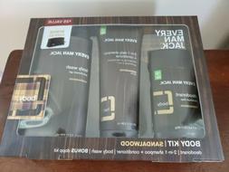 Every Man Jack Sandalwood Body Gift Set Deodorant Shampoo Bo