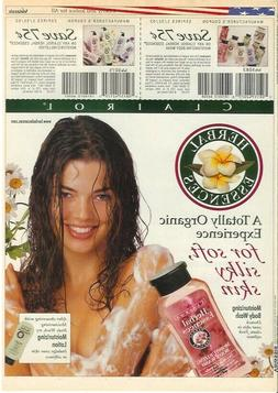 sexy wet Denise Richards vintage print ad 2001 Clairol Herba