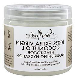 Shea Moisture 100% Extra-Virgin Coconut Oil 15oz Head-To-Toe