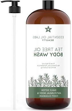 Tea Tree Oil Body Wash, 16 oz- Daily Detox Antifungal Body a