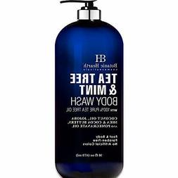 BOTANIC HEARTH Tea Tree Oil Body Wash with Mint - Paraben Fr