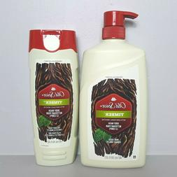 Old Spice Timber Mint Body Wash 30oz Bottle with Pump, + 16o