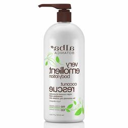 Alba Botanica Very Emollient Coconut Rescue Body Lotion, 32