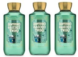 x3 Bath and & Body Works Christmas Cocoa & Mint  Bubble Show