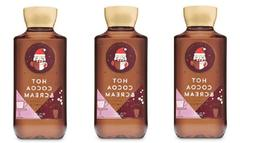 x3 Bath and & Body Works Hot Cocoa & Cream Shower Gel Body W